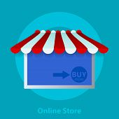 Online Store. Tablet Or Smartphone,  E-commerce