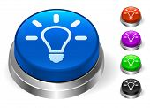 Lightbulb Icons on Round Button Collection