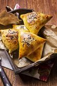 stock photo of samosa  - baked samosa - JPG