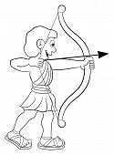 image of sagittarius  - vector illustration of a zodiac sign  - JPG