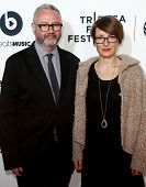 NEW YORK-APR 16: Simon Kilmurry (L) and Susanne Guggenberger attend the world premiere of