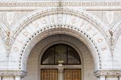 pic of old post office  - Entrance to the Old Post Office building on Pennsylvania Avenue in Washington DC - JPG