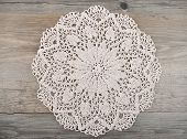picture of doilies  - Colorful and crisp image of crochet doily - JPG