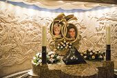 LONDON, UK - AUGUST 13: Memorial do Princess Diana and Dodi Al Fayed in Harrods. The memorial was co