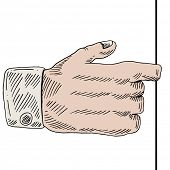 An image of finger hand pull.