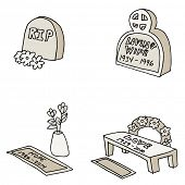 An image of tombstones.
