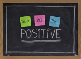 stock photo of think positive  - think do be positive  - JPG