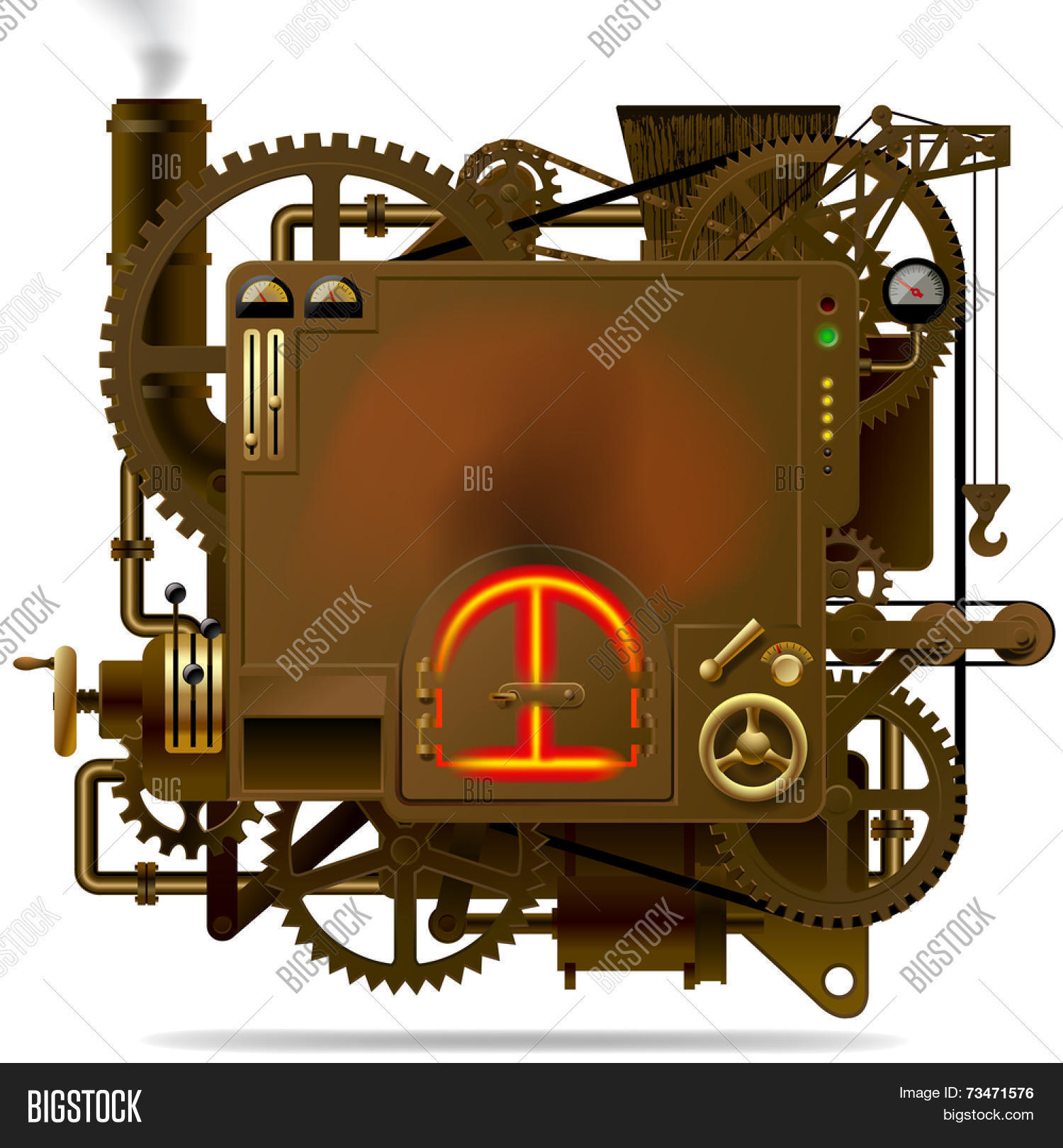 Complex fantastic machine stove image photo bigstock complex fantastic machine with stove gears levers pipes and other machinery symbol biocorpaavc Gallery