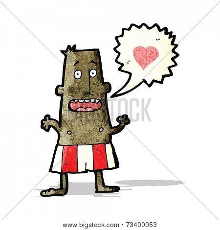 cartoon man in boxer shorts