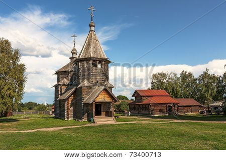 Old wooden church in Suzdal, Russia