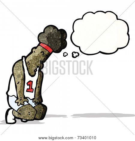 cartoon exhausted marathon runner