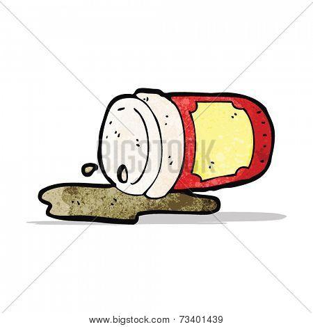 cartoon spilled coffee