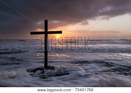 Storm Sunset Cross