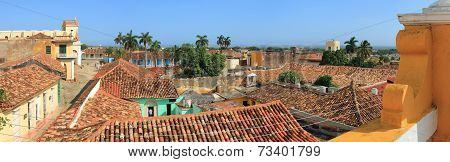 View over rooftops in Trinidad, Cuba - A UNESCO World Heritage Site