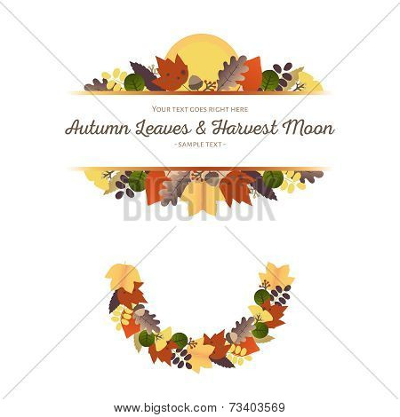 Autumn Ornaments - Leaves and Harvest Moon (1)