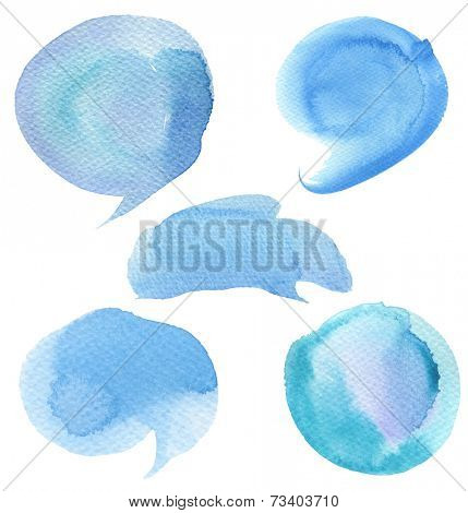Set of abstract watercolor painted background. Paper texture.