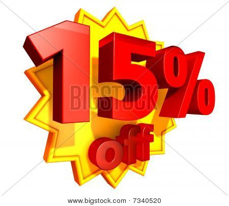 15 Percent price off