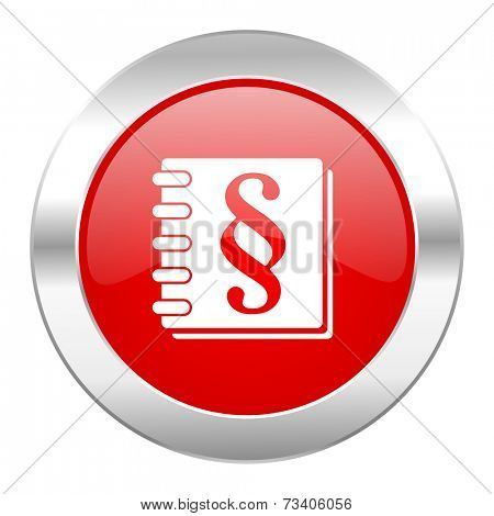 law red circle chrome web icon isolated
