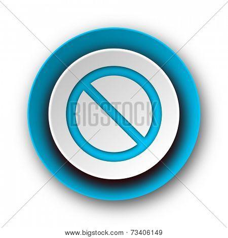 access denied blue modern web icon on white background