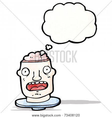 cartoon gross head on plate