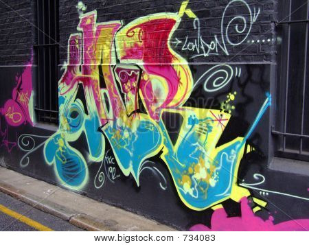 graffiti black wall