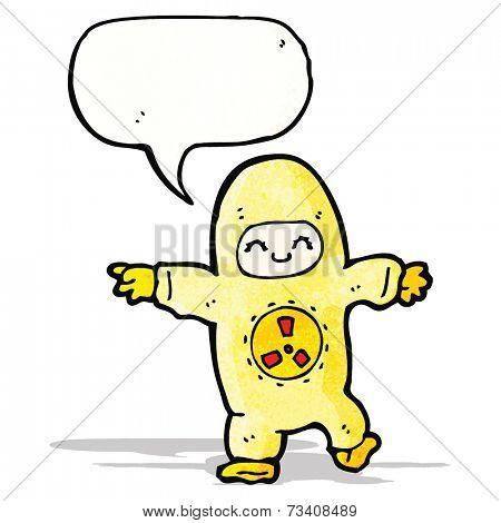 man in radiation suit cartoon