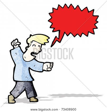 angry man shouting cartoon