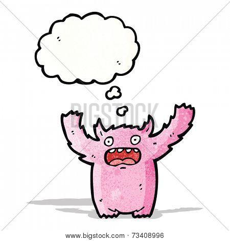 pink furry monster cartoon