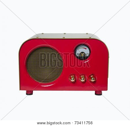 Guitar amp music speaker isolated on white