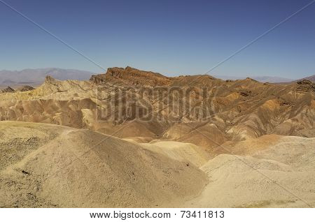 eroded ridges death valley national park california