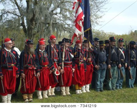 Union Soldiers at Re-Enactment