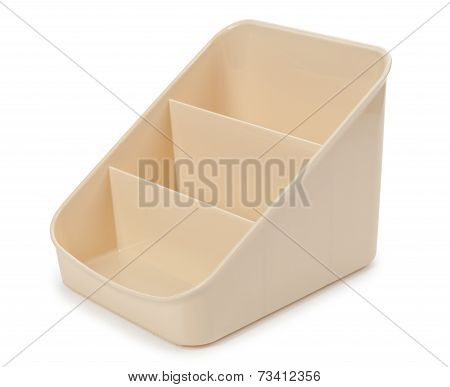 Pastic tray. Isolated
