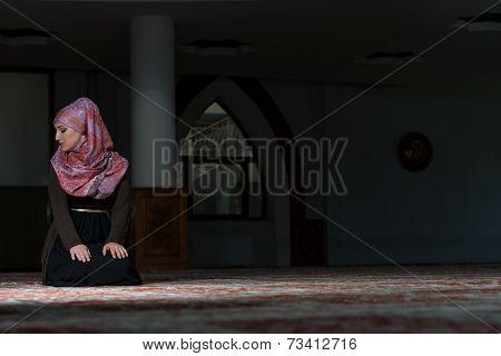 Young Muslim Woman Praying