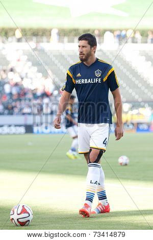 CARSON, CA - SEPT 28:  Omar Gonzalez during the Los Angeles Galaxy MLS game against the New York Red Bulls on Sept 28th 2014 at the StubHub Center.