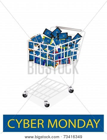 Mobile Phone In Cyber Monday Shopping Cart