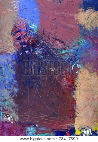 Abstract Oil Painting On Canvas
