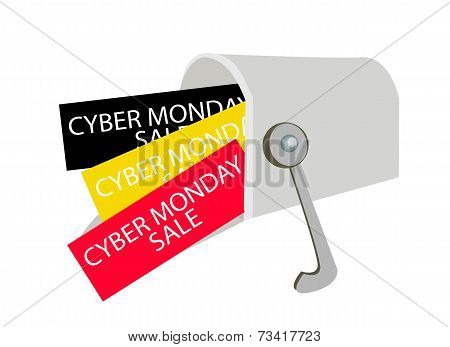 Cyber Monday Letters in A Gray Mailbox