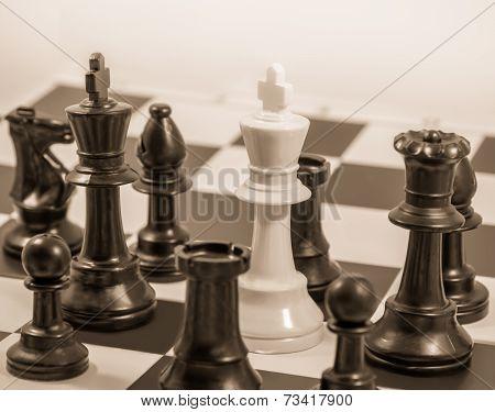 Checkmate Sepia Tone