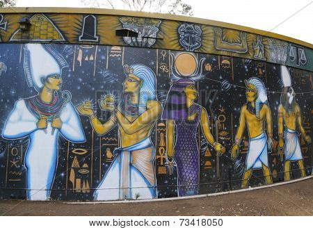 Mural art at Balboa Park in San Diego
