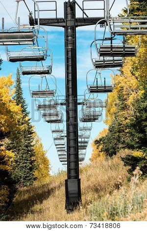 Empty Ski Chair Lift