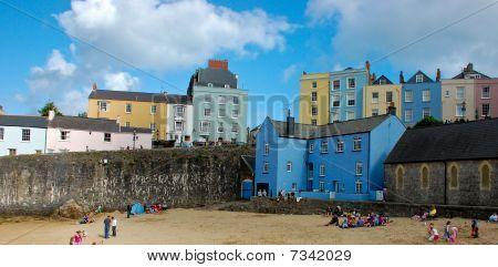 Colourful House On Beach