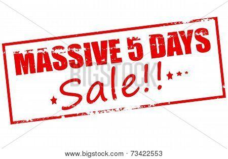 Massive Five Days Sale