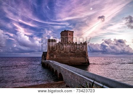 Ancient castle on the sea.