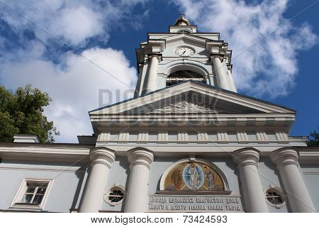 Transfiguration Cathedral in Vyborg town.