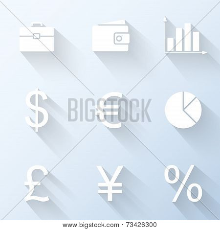 Flat Finance Icons. Vector Illustration