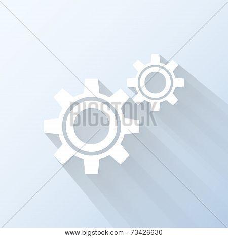 Flat Settings Icon. Vector Illustration