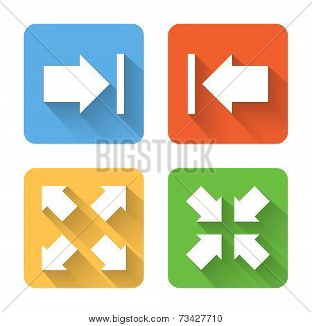 Flat Image View Interface Icons. Vector Illustration