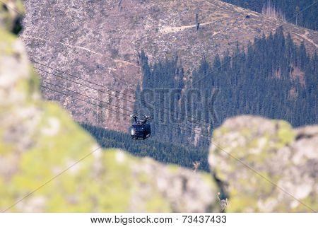 Ropeway Funitel At Low Tatras, Slovakia