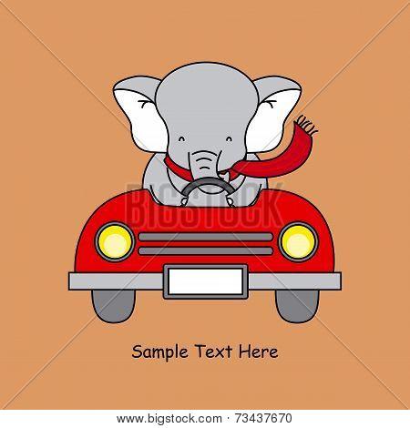 elephant in a car