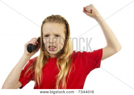 Girl Is Angry On The Phone